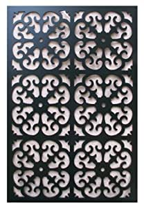 Amazon Com Acurio Roman Black Vinyl Lattice Decorative