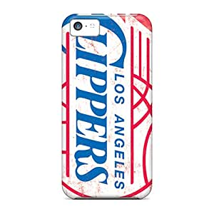 Scratch Resistant Cell-phone Hard Covers For Apple Iphone 5c (wZD13459joUM) Allow Personal Design Stylish Los Angeles Clippers Pattern