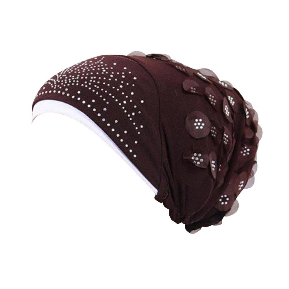 ✿✿Ratoop✿✿Women Muslim Stretch Turban Hat Chemo Cap Hair Loss Head Scarf Wrap Hijib Cap
