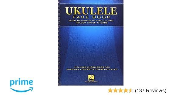 Amazon Ukulele Fake Book Full Size Edition 0888680032395