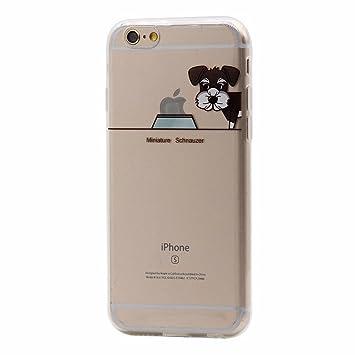 Keyihan iPhone 6 Plus / 6S Plus Funda Carcasa Perro Lindo patrón Suave TPU Silicona Transparente Ultra Delgada y Ligéra Parachoques para Apple iPhone ...