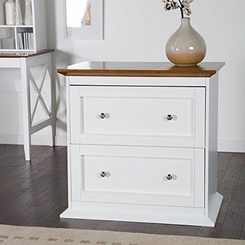 Belham Living Hampton Two Drawer Lateral Filing Cabinet - White/Oak