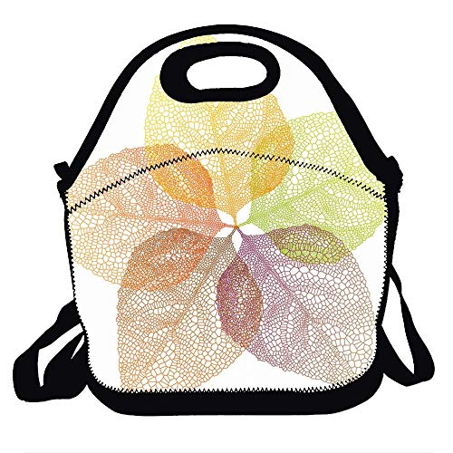 (Love fled Leaves Stock Vector ImagesLunch Bag Tote Handbag lunchbox Food Container Gourmet Tote Cooler warm Pouch For School work Office)