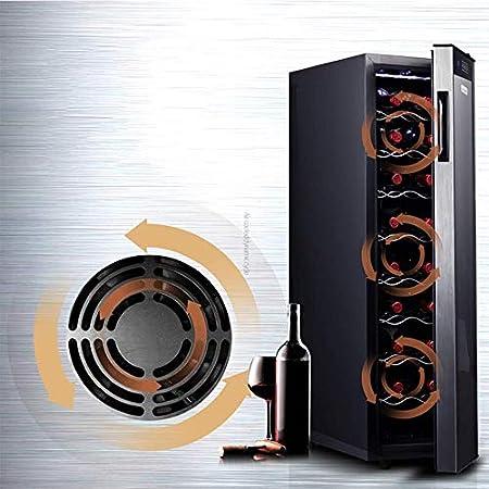 YFGQBCP Eléctrica del refrigerador de Vino, Chiller la Puerta de Cristal con Pantalla Digital de Temperatura, Funcionamiento silencioso Frigorífico