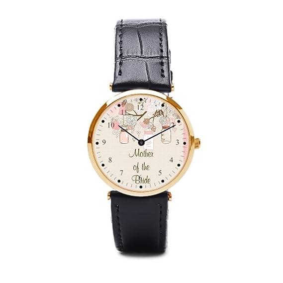 Cielo estrellado de piel Para Los relojes dama de honor fiesta banda reloj Cuff: Amazon.es: Relojes