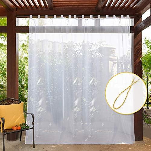 PONY DANCE Cortina Visillo Ventana Suave Leve con Trabillas Translucidos No Bloquea Toda la Luz Solar 254 CM x 274 CM, 1 Pieza: Amazon.es: Jardín