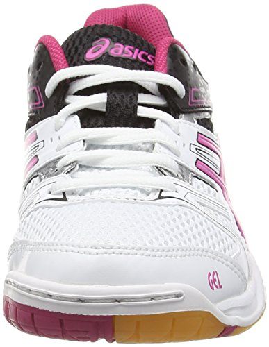 Femme 7 de Asics White Magenta Black Volleyball Blanc Chaussures 0125 Rocket Gel UEpUwCqY