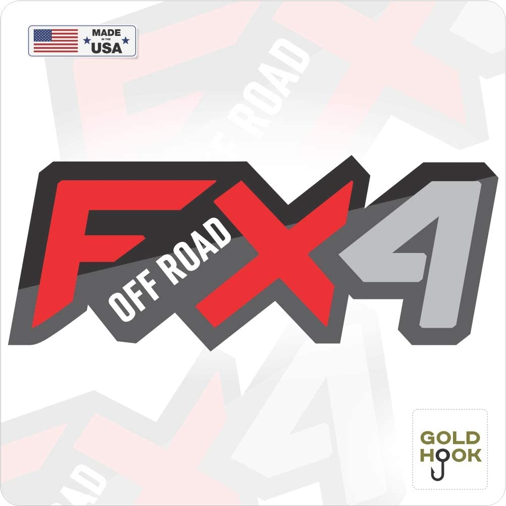 GOLD HOOK Set of 2 Ford F150 FX4 Off Road Decals F Truck Stickers Bed Side Graphic