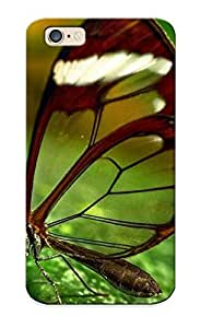 Ellent Design Insects Glasswing Butterfly Butterflies Case Cover For Iphone 6 For New Year's Day's Gift