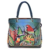 Anuschka Leather Large Convertible Satchel Built In Wallet