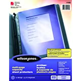 Wilson Jones Multi-Page Sheet Protectors, Letter Size, 50-Sheet Capacity, 25/Pack (7891021425)