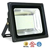 ASD LED Floodlight 75W SMD Outdoor Landscape Security Waterproof UL Listed 4000K (Bright White)