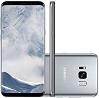 "Smartphone Samsung Galaxy S8 Plus Prata 6,2"" Câmera de 12MP 64GB Octa Core e 4GB de RAM"