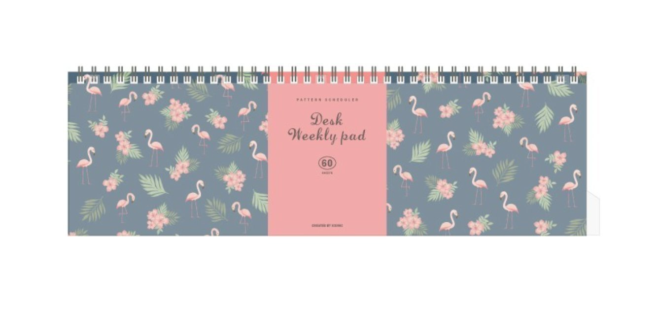 (Pack of 40) Iconic Weekly, Monthly Desk Pad Ver.2 / Pattern Scheduler (Weekly)