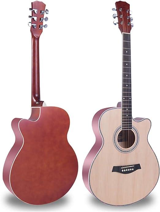 BAIYING-Guitarra Acústica,Principiante Balada Guitarra Estudiante ...