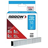 Arrow Fastener 50924 9/16-Inch Genuine T50 Staples, 1,250-Pack