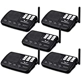 Hosmart 1/2 Mile LONG RANGE 7-Channel Security Wireless Intercom System for Home or Office (2017 New vesion) [5 stations Black]