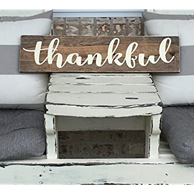 Thankful Wooden Sign - Rustic Sign
