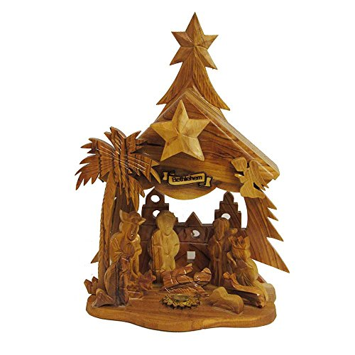 Kurt Adler LOC0002 6.9'' Olive Wood Nativity Music Box by Kurt Adler