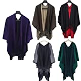 Product review for KESEE Clearance Coat ☀ Women Cashmere Knitted Cardigan Sweater Poncho Capes Shawl Vintage Cape Solid Sweater