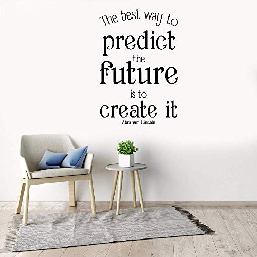 Jueray Quote Mirror Decal Quotes Vinyl Wall Decals Wall Sticker The Best Way to Predict The Future is to Create It Living Room Bedroom ()