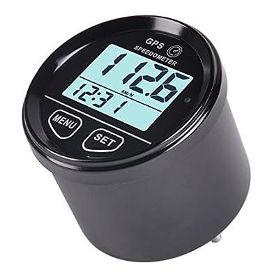 Digital GPS Speedometer Backlight - AIMILAR Speed Meter Gauge Counter 60mm Backlit for ATV UTV Marine Boat Motorcycle Car Automobile Motor Vehicle Bike