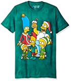 simpson merchandise - Liquid Blue Men's The Simpsons Family Holiday Short Sleeve T-Shirt, Tie Dye, X-Large
