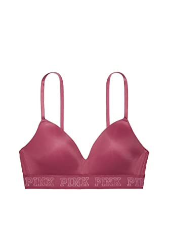 56f2985f0e2f3 Victoria s Secret PINK Wear Everywhere Wireless Lightly Lined Bra Bayberry  (X-Small)