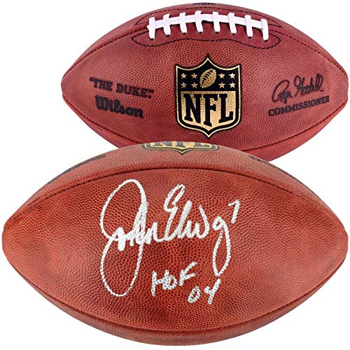 John Elway Denver Broncos FAN Autographed Signed Pro Football With HOF 04 Inscription - Certified Signature