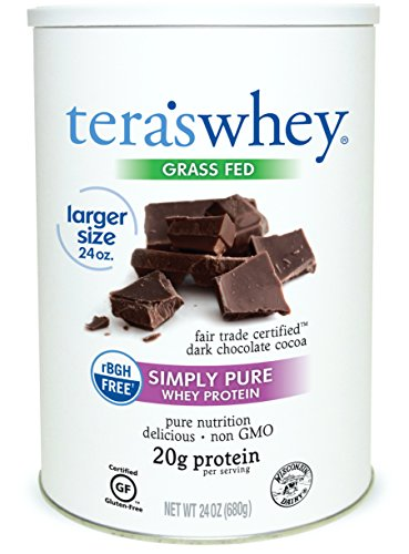 (teraswhey Simply Pure Whey Protein, Dark Chocolate, 24 oz)