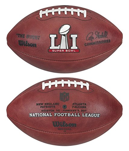 NFL Super Bowl 51 Authentic Official Game Football (Boxed) with Falcons & Patriots Names Inscribed on Ball -