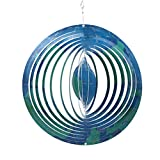 CEDAR HOME Wind Spectrum Spinner Outdoor Hanging Metal Sculpture Garden Figurine Decor Art Ornament Lawn Yard Patio 10'', World Travel