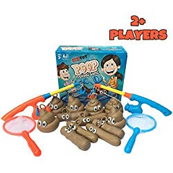 alesTOY Fishing for Floaters - 2 Fishing Rods, 2 Nets & 12 Floaters for 2 Players - Educational, Creative & Sensory Bath Fishing Game Toys in Bathtub or Swimming Pool