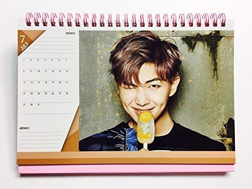 BTS KPOP Bangtan Boys Group Individual Member New Calendar 2018-2019 V SUGA JUNG KOOK J-HOPE JIMIN RAP MONSTER JIN (RAP MONSTER)