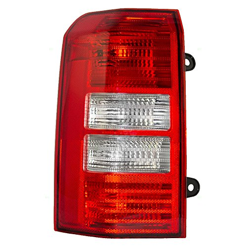 Taillight Tail Lamp Lens Driver Replacement for 08-16 Jeep Patriot SUV 5160365AE ()
