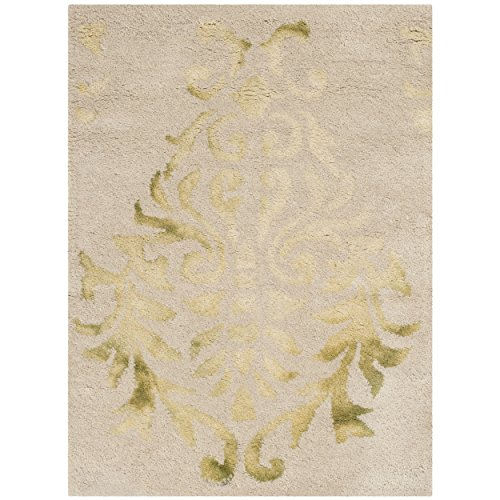 Vintage Hand Woven Rug - Safavieh Dip Dye Collection DDY516B Handmade Watercolor Vintage Erased Weave Medallions Beige and Green Wool Area Rug (2' x 3')