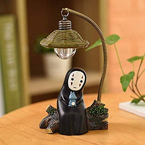 fannuoyi Spirited Away Kaonashi No Face Man Night Light Best Gift Home Decor Craft Decorative Lights (Light with - Anime Home Decor