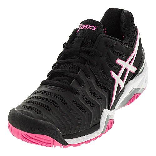 ASICS Women's Gel-Resolution 7 Tennis-Shoes, Black/Silver/Hot Pink (9.5 Medium US) by ASICS