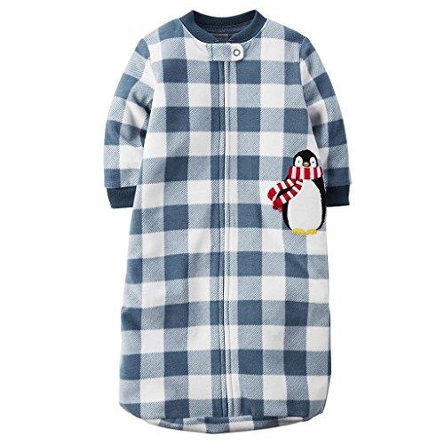Carter's Baby Boy's 0-9 Months Checkered Penguin Fleece Sleep Bag, Sleeper