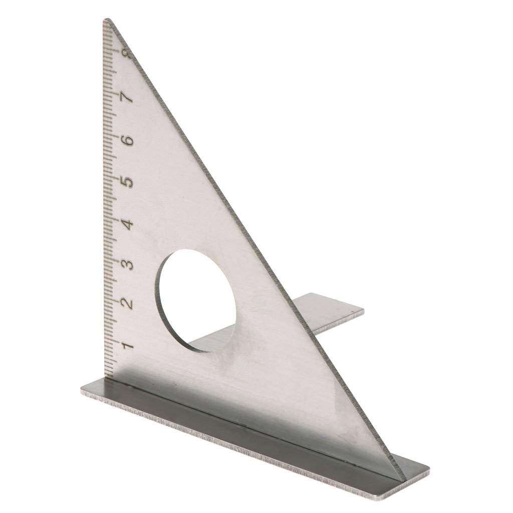 OTGO Woodworking Ruler Square Layout Miter Stainless Steel Triangle Rafter 45° 90 degree Metric Gauge
