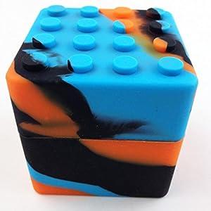 XXL Silicone Stackable Container Wax Dab Oil Jar 60ML (Orange/Black/Blue)