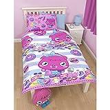 Moshi Monsters Childrens Girls Poppet Vogue Reversible Duvet Cover Bedding Set (Single Bed) (Multicoloured)