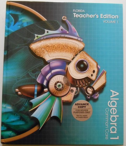 Pearson Algebra 1 Florida Common Core Teacher's Edition: Volume 1 -  Hardcover