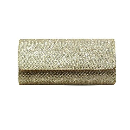 La Bandolera De Del Bolsa Bolsos Elegantes Oro Embrague Brillo De De Fiesta Wocharm De La Chispa Noche Boda Mujeres qtHwBTW7O