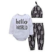 Shop the Look Memela(TM) NEW Fall/Winter Hello World Unisex Baby Layette Gift Set Clothes Set 0-24 mos (6-12 mos)