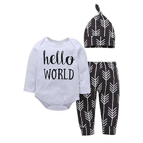 Shop the Look Memela(TM) NEW Fall/Winter Hello World Unisex Baby Layette Gift Set Clothes Set 0-24 mos (0-6 mos) Unisex Baby Gift Set