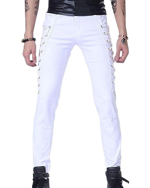 1d3323da50 Pantalones De Vestir Slim Los Fit Hombres De Pantalones Modernas Casual  Flacos Casual con Pantalones Elásticos De Estiramiento Vendaje De Moda  Pantalones ...