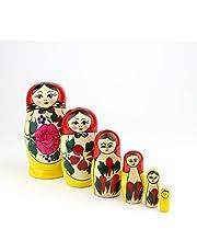Russische broedpoppen, traditionele Matryoshka Semyonov-stijl | Babushka Houten Doll Gift Toy, met de hand gemaakt in Rusland