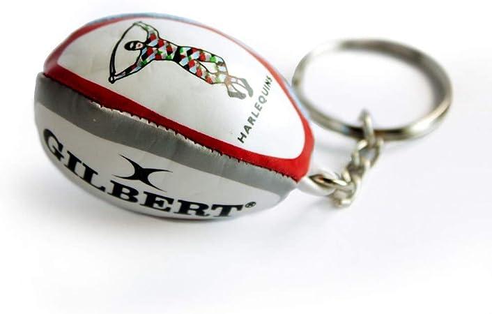 Llavero Gilbert Oficial de Balón de Rugby de Primera Fila de Equipo Inglés Harlequins: Amazon.es: Deportes y aire libre