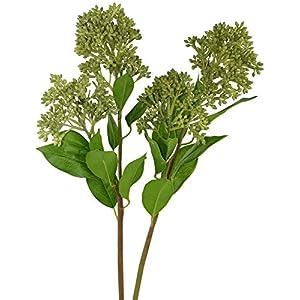 Rinlong Artificial Greenery Stems 2pcs Sedum Succulent Sprays Silk Filler Flowers for Floral Arrangement Bouquets Home Wedding Décor 86
